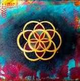 """Flower of Life 3"" 6 x 6"" Sold"