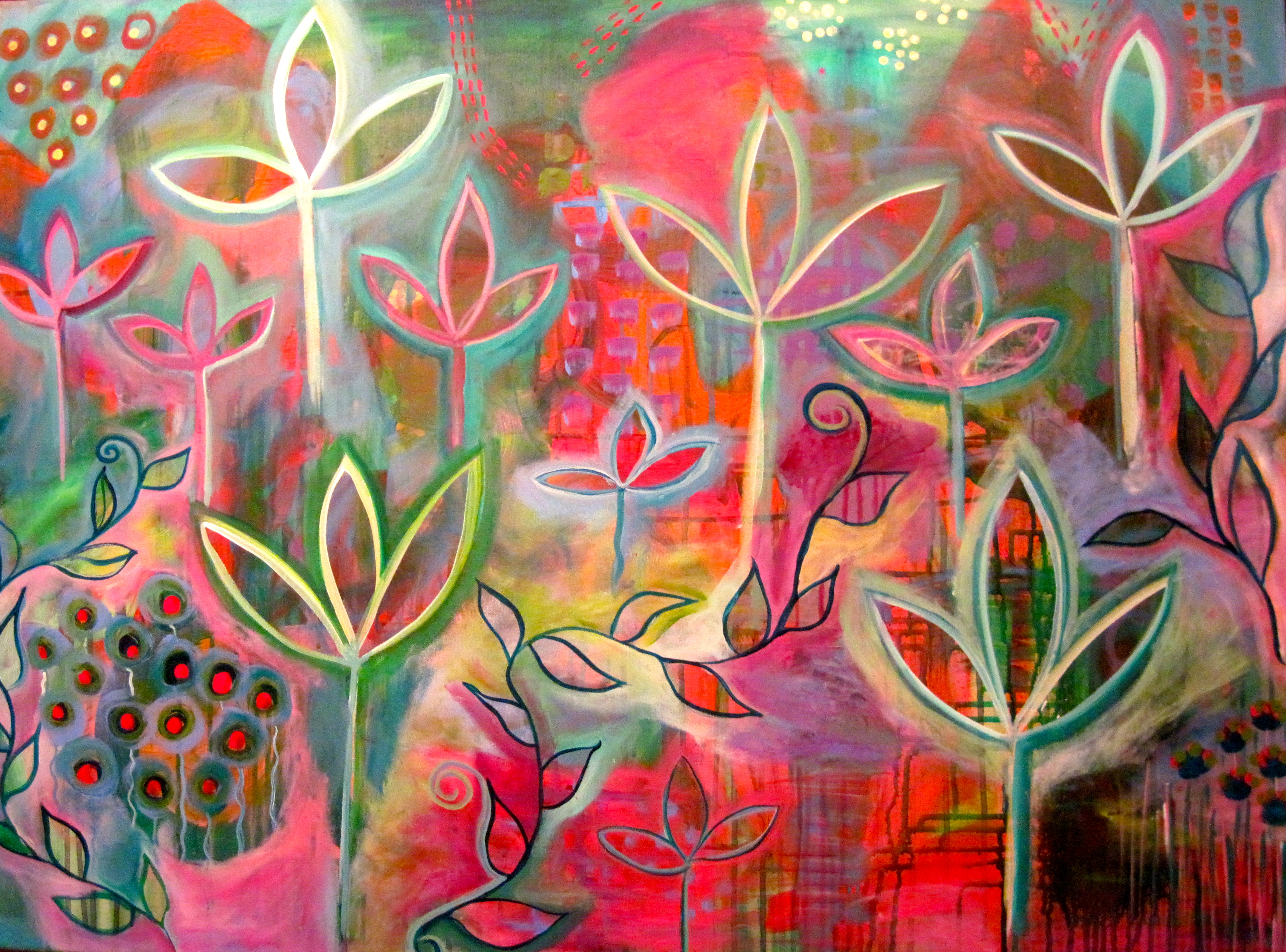 Image gallery spring art for Spring canvas paintings